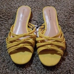 Who What Wear Yellow Slides